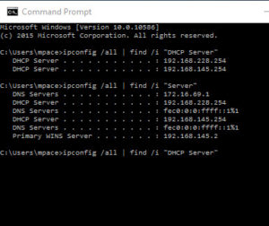 search mac address in dhcp server