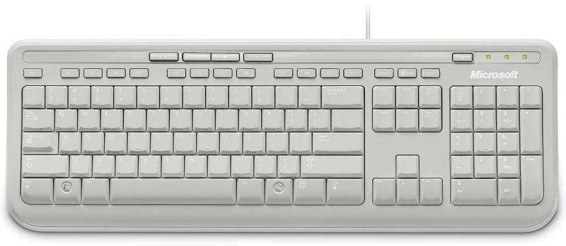 Microsoft Wired Keyboard 600 USB (White) – Sterling IT